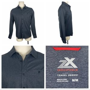 Brand New ZeroXposur Long Sleeve Button Down Med